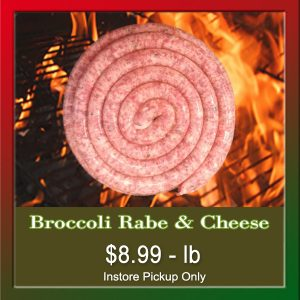 Broccoli Rabe and Cheese Sausage